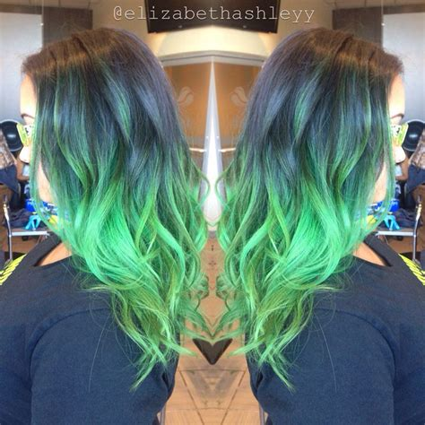 hair clients ombre pictures electric green jaded mood balayage colorful ombr 233 my