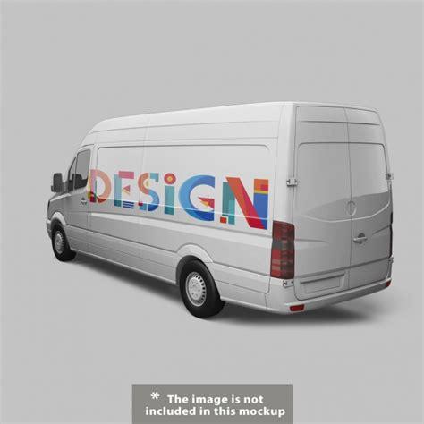 van design mockup van mock up design psd file free download