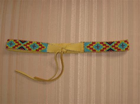 indian beaded hat band american style inspired beaded wolf hat band on