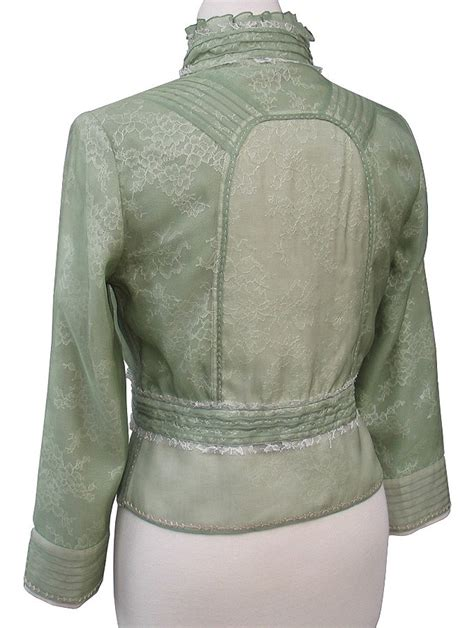 Gamis Casual Sailor Style Material Lacoste elie tahari lichen green lace silk organza peplum santina jacket 498 00 ebay