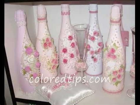 decorate a chagne bottle for weddings youtube