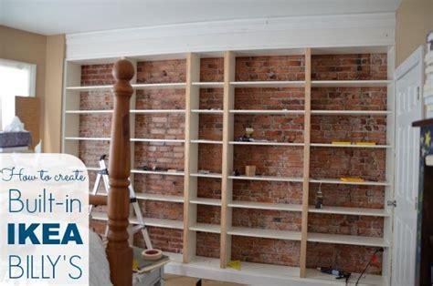 ikea hack billy built in bookshelves part 1 ikea billy
