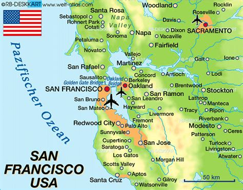 san francisco napa map map of san francisco united states usa map in the