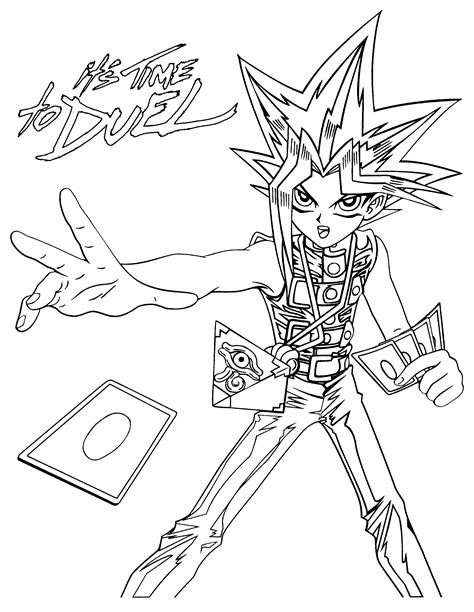 yu gi oh monsters coloring pages