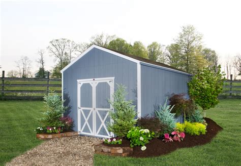 landscape around shed cottage style storage shed shed
