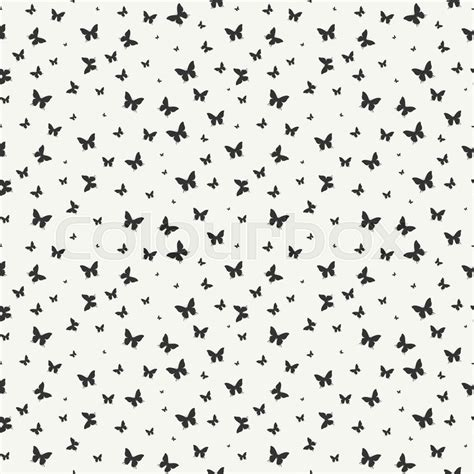 Abstrak Polkadot Butterfly monochrome abstract seamless pattern with butterfly