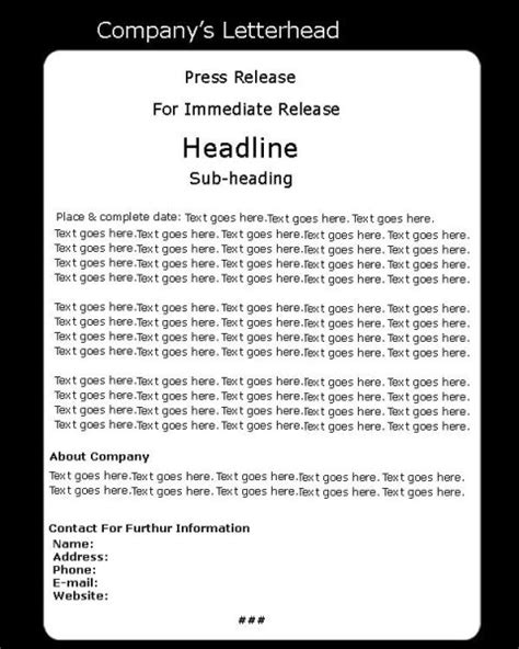 press release contoh images