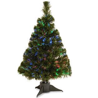 fibre optic xmas trees kmart national tree company 2ft battery operated fiber optic tree with timer