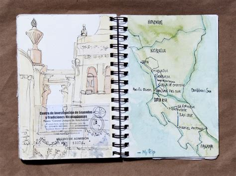 sketchbook traveler travel sketchbook of my trip to central america bored panda