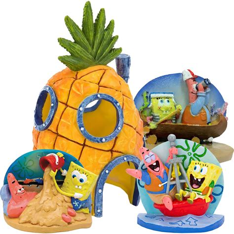 spongebob ornaments spongebob aquarium ornament set entirelypets