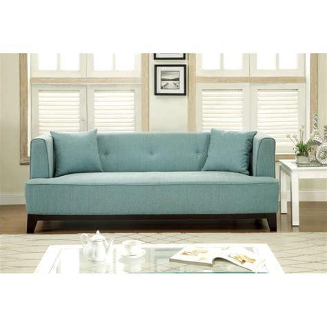 light blue tufted sofa furniture of america waylin tufted fabric sofa in light