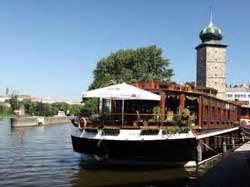 floating boat restaurant prague stay in a floating prague boat hotel livingprague