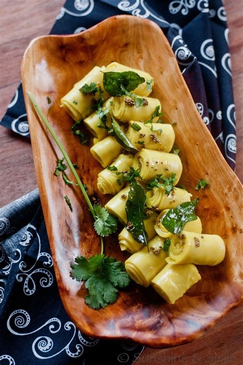 indian appetizers khandvi a healthy finger food from india guest post