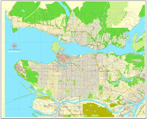 printable map vancouver bc vancouver exact map v 3 08 printable city plan map in 4