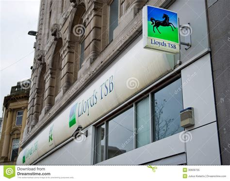 halifax bank liverpool lloyds tsb bank branch in liverpool editorial image