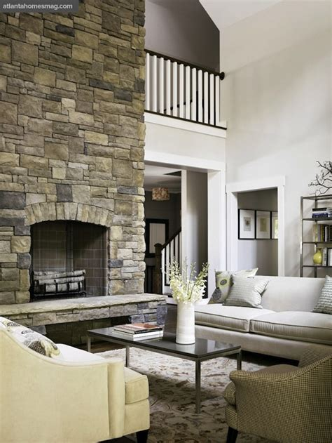 two story fireplace two story fireplace country living room atlanta homes lifestyles