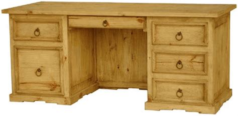 rustic wood executive desk and mexican pine wood desk