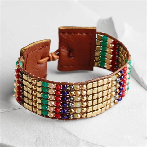 Bead Woven Bracelet multicolor bead woven bracelet world market
