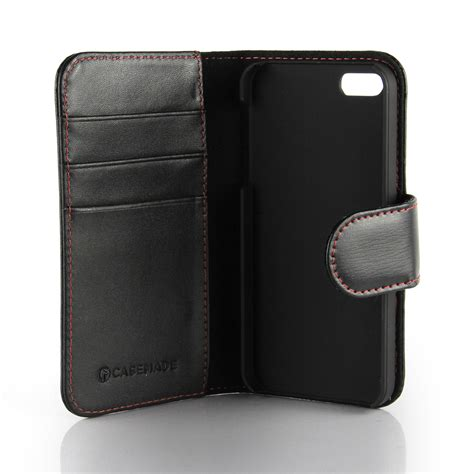Leather Wallet Cover Iphone 6 apple iphone 6 6s leather wallet black casemade