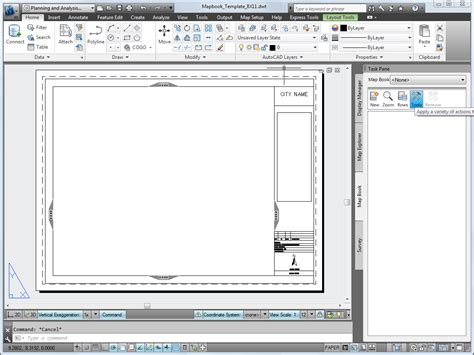 templates for autocad 2013 setting up a map book template
