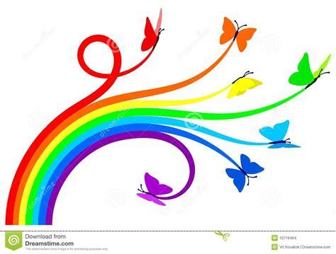 rainbow butterflies stock vector illustration  colour