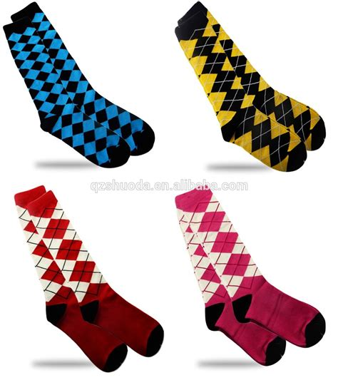 Diamond Pattern Golf Socks   2016 blue new diamond pattern golf socks horse riding