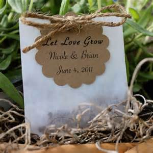 Wildflower Seeds For Wedding Favors by Wildflower Seed Favors From Etsy One Day