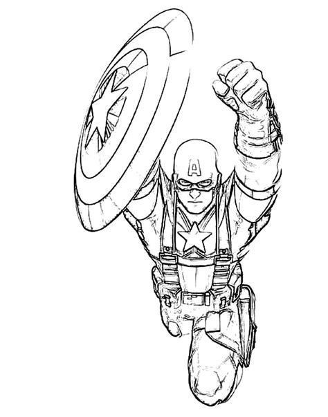 captain free colouring pages