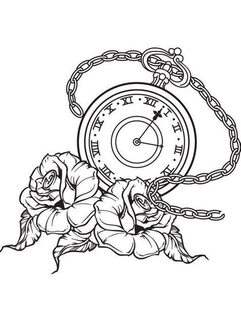 tattoo flash watch pocket watch roses tattoo flash wall art sticker vinyl