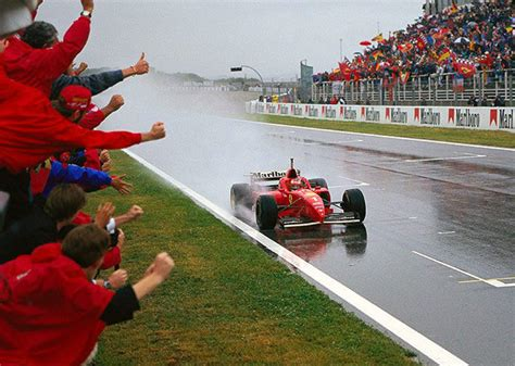lugi and michael shumaker ferrari best part 2 youtube 1996 spanish gp michael schumacher takes his first win for ferrari