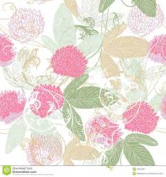 Flower Patterns To Trace - cute vector seamless pattern with hand drawn clover