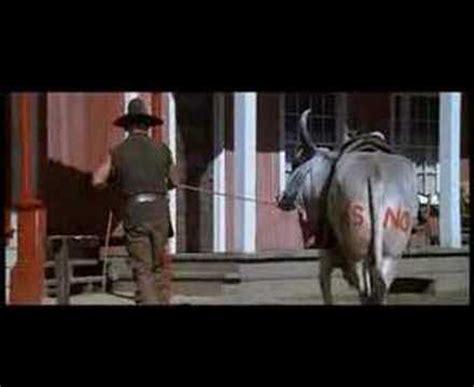 gene wilder riding bull blazing saddles mongo youtube