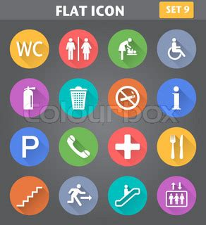 free 9 flat long shadow icons vector titanui vector application public icons set in flat style with