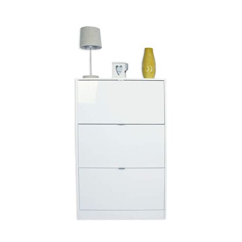 white space saving shoe storage cabinet modern high gloss white 3 tier billi shoe cabinet tall