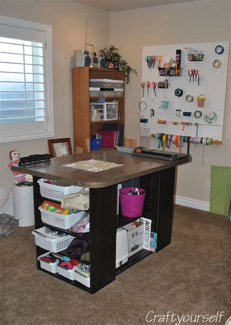 craft room island push back racking dimensions crafts