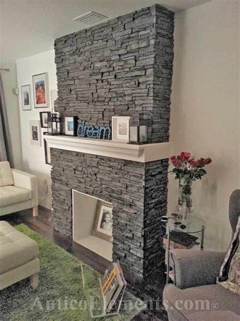 stacked fireplace cool faux for the home