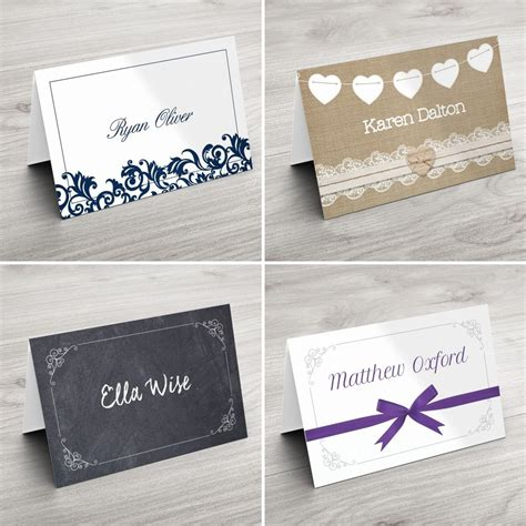 ebay co uk wedding place cards personalised wedding table place name setting cards