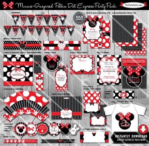 printable minnie mouse party decorations minnie mouse party decorations printable minnie mouse