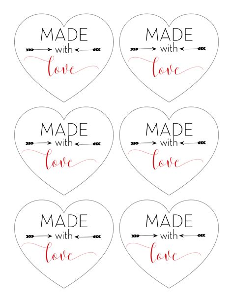 Printable Made For You Gift Tags | quot made with love quot printable tags for homemade gifts