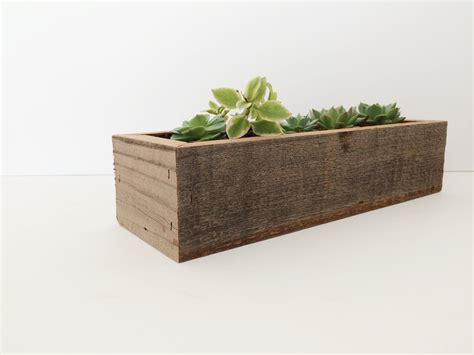 succulent planter box reclaimed wood succulent planter box fivesie