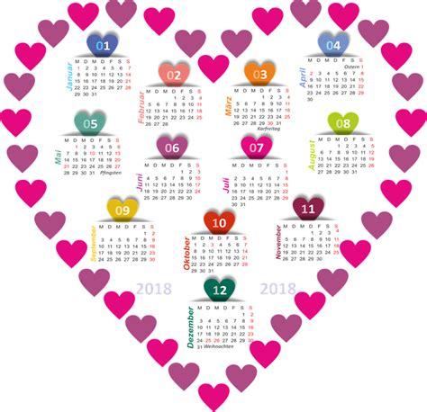 Kalender 2018 Resolusi Besar Ilustrasi Gratis Kalender 2018 Jantung Gambar Gratis
