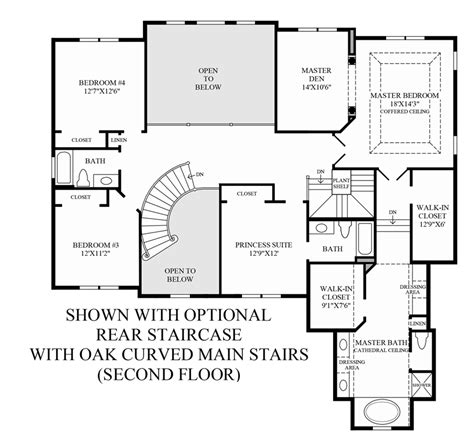 house plans with curved staircase