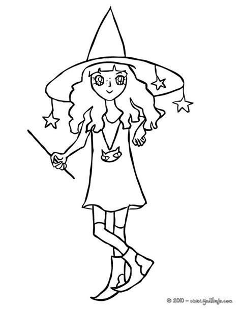 imagenes de brujas de halloween para imprimir dibujos para colorear una bruja manga para halloween es