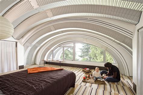 Kitchen Backsplash Medallions Quonset Hut Homes Exterior Eclectic With Curved Roofline