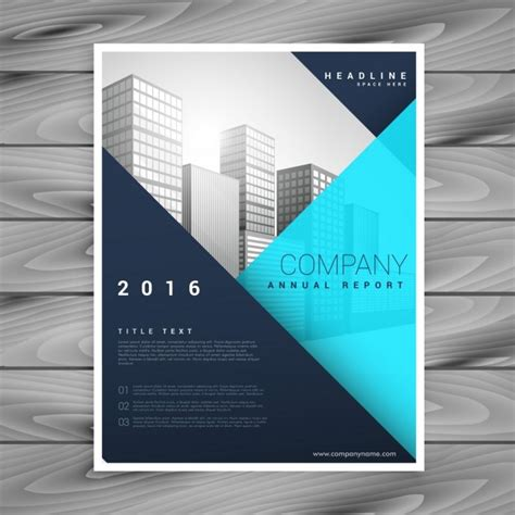 modern brochure template with blue geometric style vector