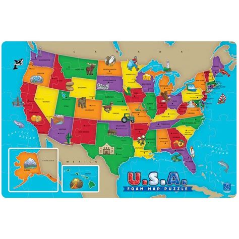 World Map Foam Puzzle Mat by Usa Map Foam Puzzle Educational Toys Planet