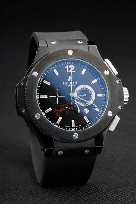 Hublot Senna Grey Brown Leather 30 hublot ayrton senna foudroyante hb08 replica hublot watches