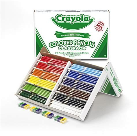 bulk colored pencils crayola colored pencil bulk 240 count classpack 12