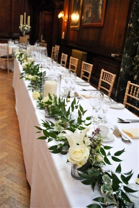 best 25 wedding table garland ideas on