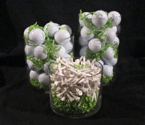 how to make a centerpiece for a golf themed party
